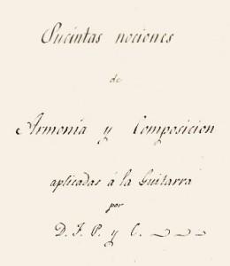 Detalle de la portada del manuscrito de Ponzoa y Cebrián